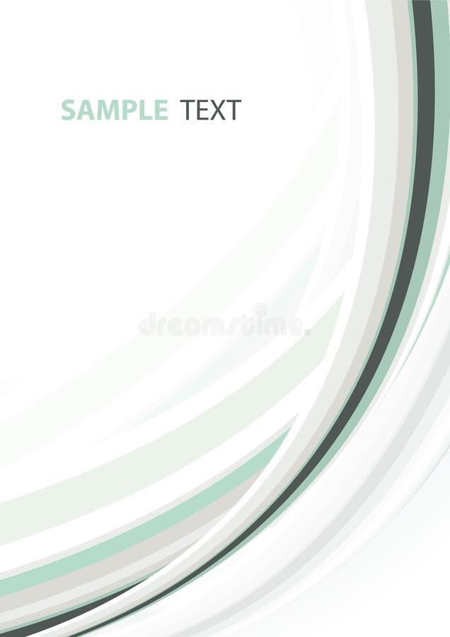 Hellgrüne abstrakte Schablone vektor abbildung