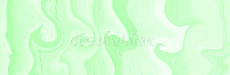 Hellgrüne Marmorierungfarbe mit dem Effekt von 3d, schöner Hintergrund für Tapete vektor abbildung