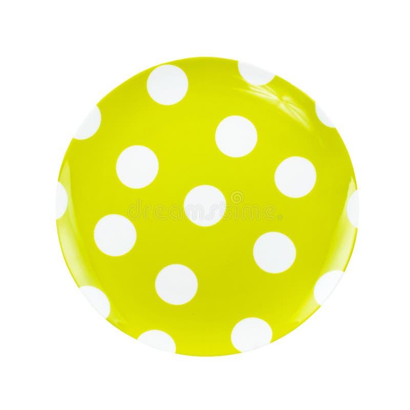 Hellgrüne Platte lokalisiert auf weißem Hintergrund lizenzfreie stockfotografie