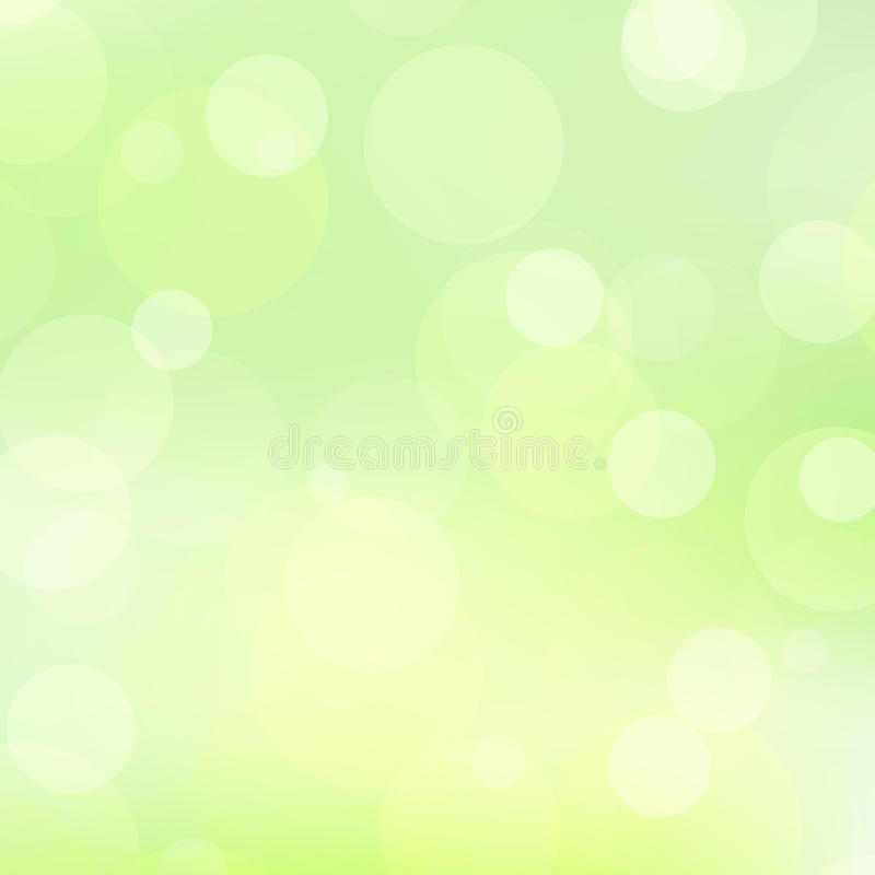 Hellgrüner Hintergrund mit transparenten Kreisen vektor abbildung