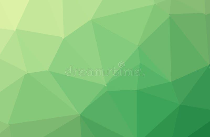 Hellgr?ner gl?nzender dreieckiger Hintergrund Eine Probe mit polygonalen Formen Das strukturierte Muster kann f?r Hintergrund ben stock abbildung