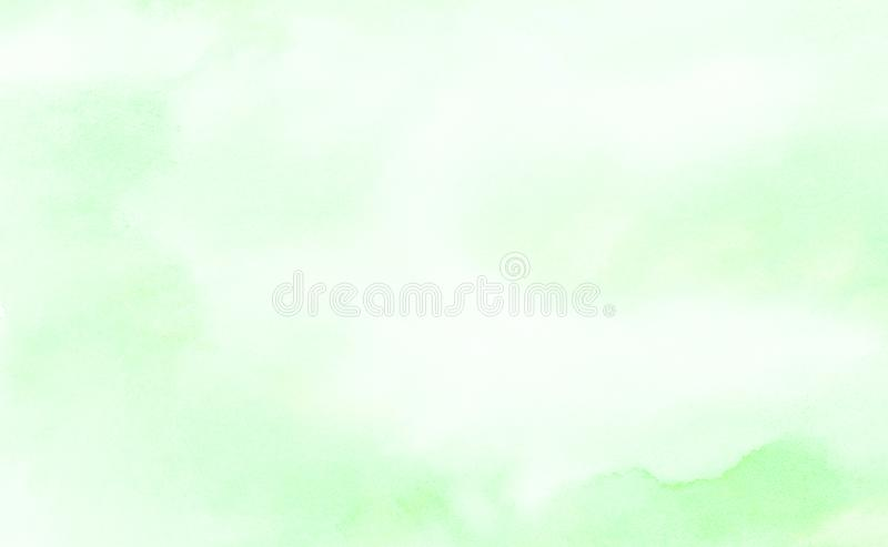 Hellgr?nes Aquarell der hellen Tinte malte strukturierten Papierhintergrund Retro- abstrakter Fr?hling schattiert Aquarellillustr stock abbildung