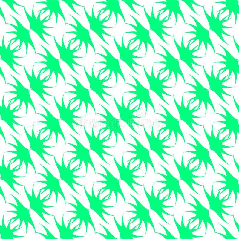 Hellgr?nes Muster auf wei?em Hintergrund Nahtloses Muster Abstrac lizenzfreie abbildung