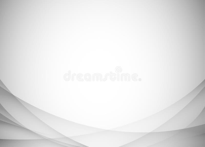 Hellgraue abstrakte Hintergrundvektorillustration stock abbildung