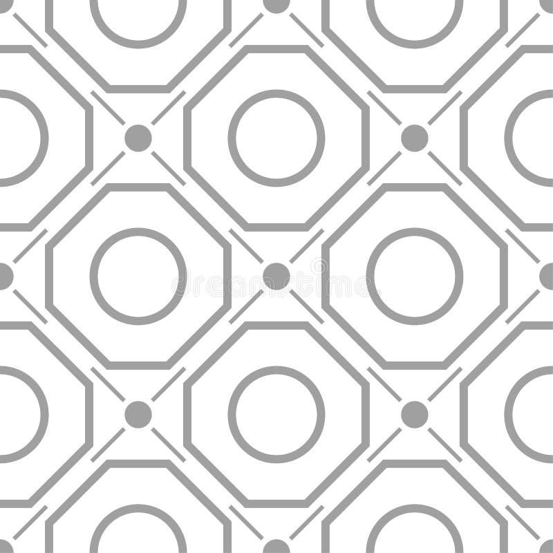 Hellgraue geometrische Verzierung Nahtloses Muster vektor abbildung