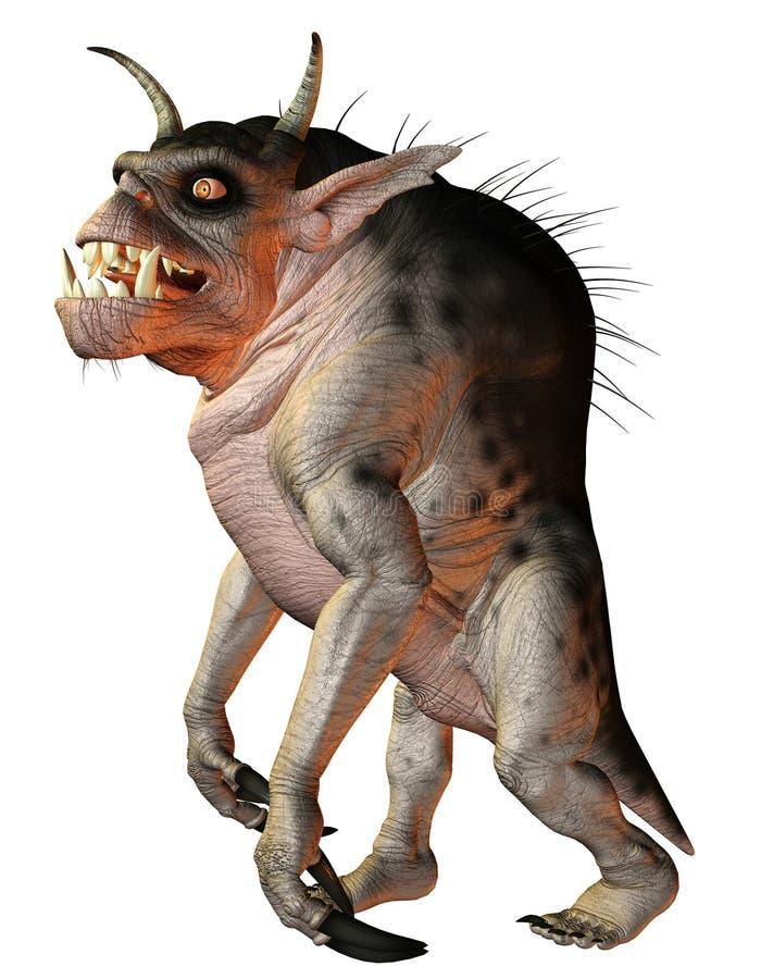 Hellhound della creatura di fantasia illustrazione di stock