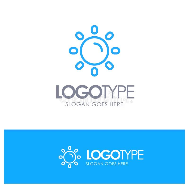 Helligkeit, Licht, Sun, Glanz-blauer Entwurf Logo Place für Tagline lizenzfreie abbildung