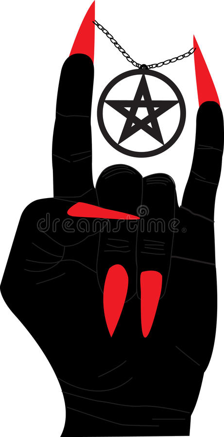 Download Hellish Sign Isolated On White Stock Vector - Image: 12137154