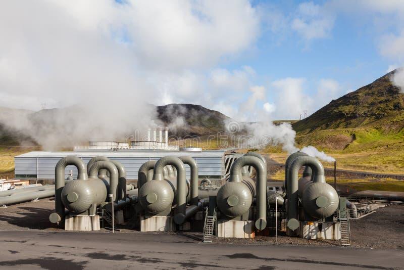 Hellisheidi Geothermische Elektrische centrale royalty-vrije stock foto
