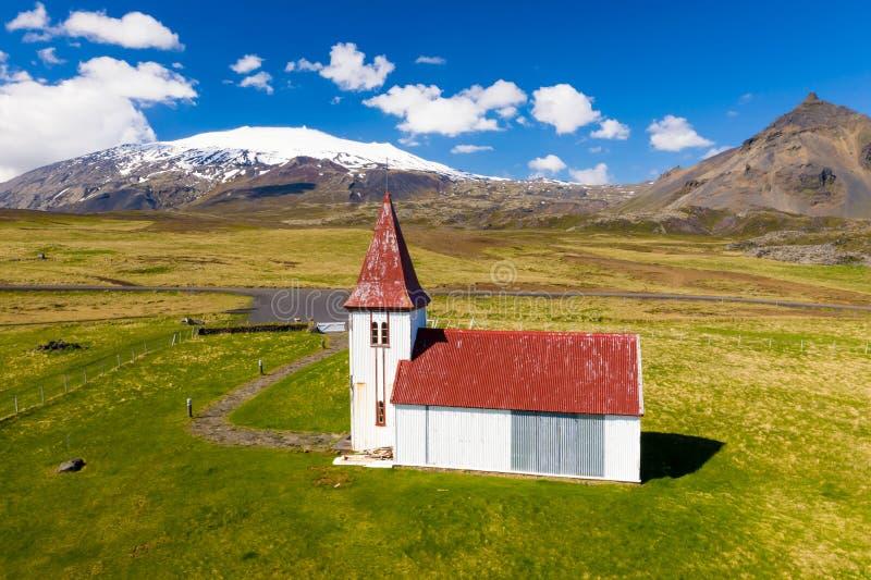 Hellnar Church, Ισλανδία στοκ φωτογραφίες με δικαίωμα ελεύθερης χρήσης