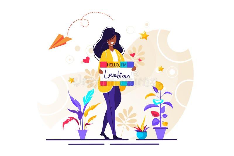 Hello är jag lesbisk vektor illustrationer