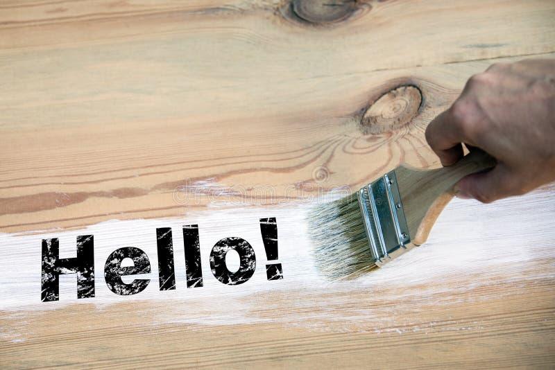 hello Κοινωνικό MEDIA, έννοια επικοινωνίας και επιχειρήσεων στοκ φωτογραφίες