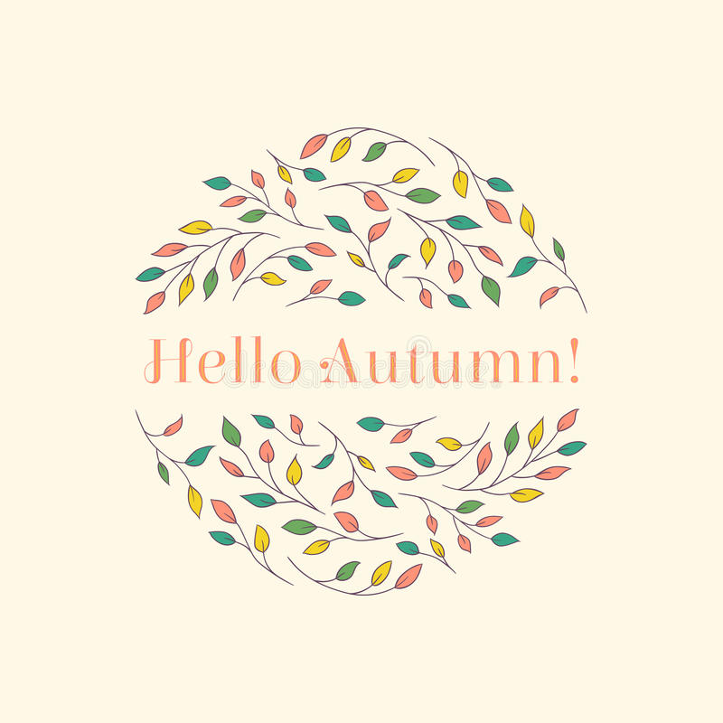 Hello autumn-1 vektor illustrationer