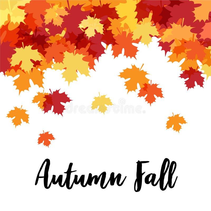 Hello Autumn Beautiful Decorative Background stock illustrationer