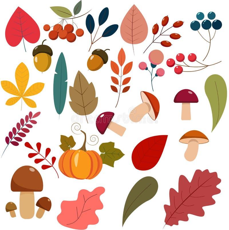 Hello autumn flat style illustration. royalty free illustration