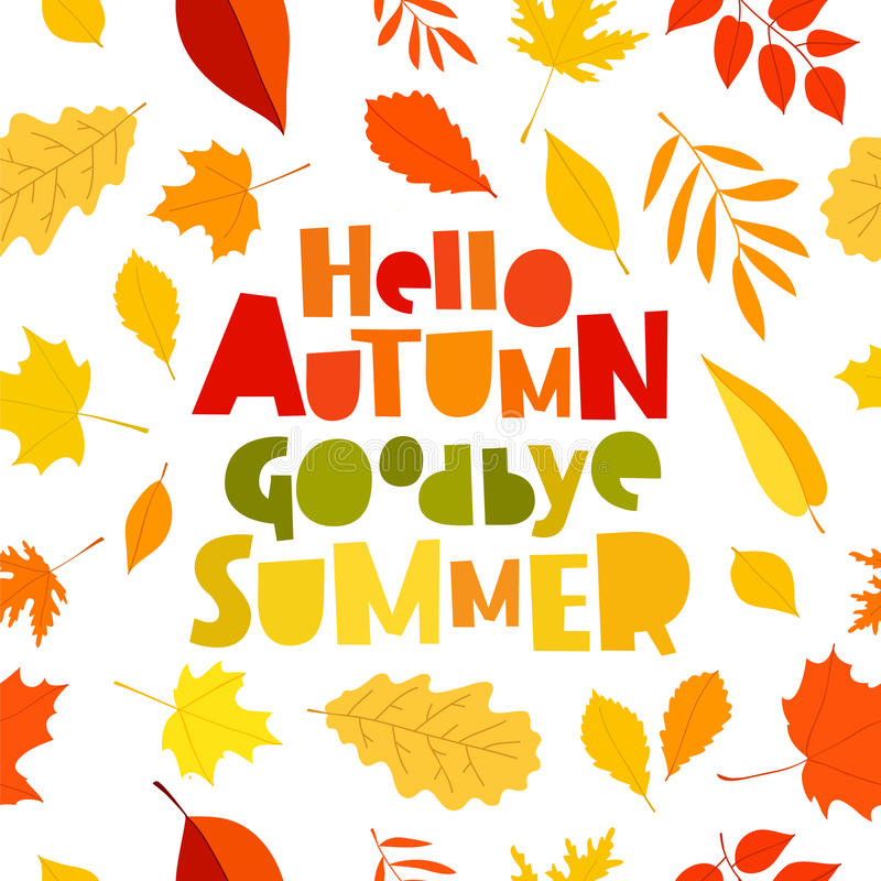 Awesome Download Hello Autumn. Goodbye, Summer. Stock Vector   Illustration Of  Education, Plant