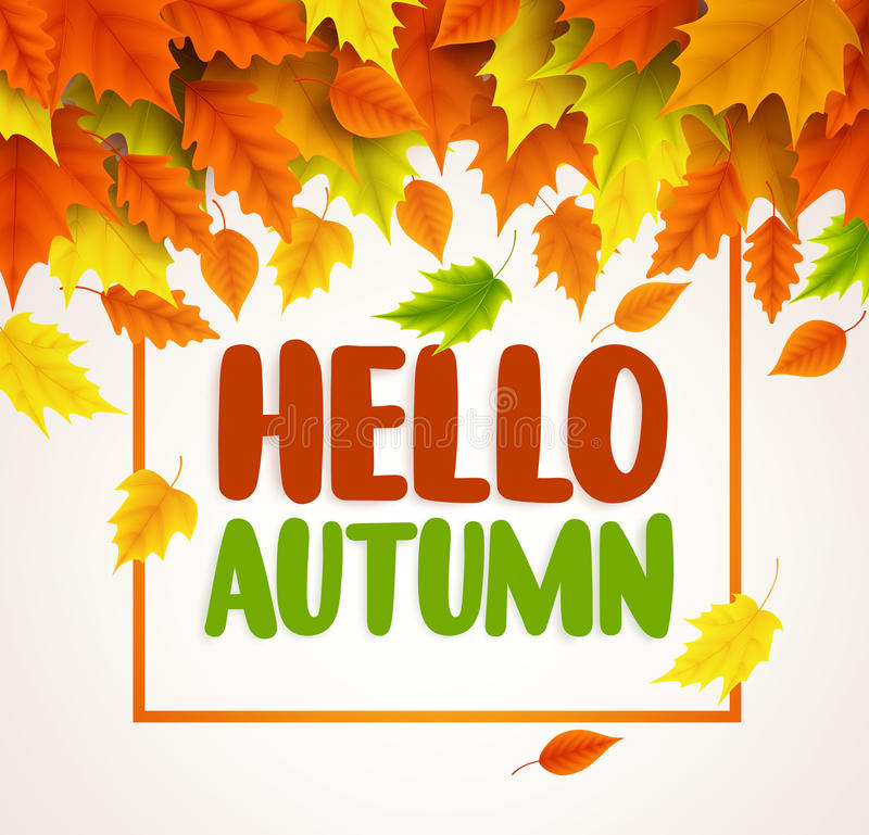 Hello autumn vector banner design text greetings for fall season download hello autumn vector banner design text greetings for fall season with collections stock vector m4hsunfo Image collections
