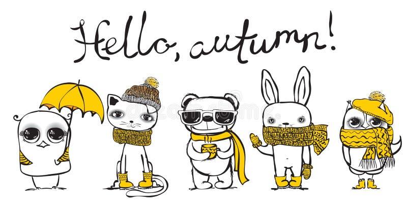Hello autumn vector illustration