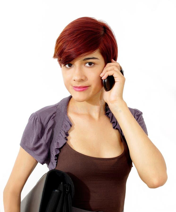 Mobile Phone Pretty Girl Stock Image