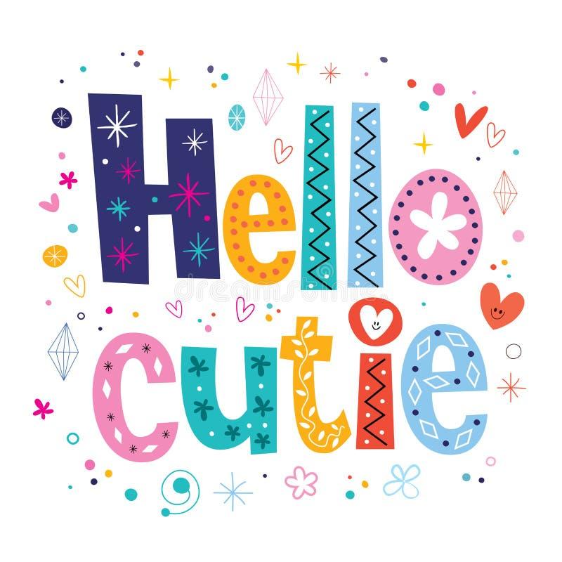 Hello cutie vector illustratie