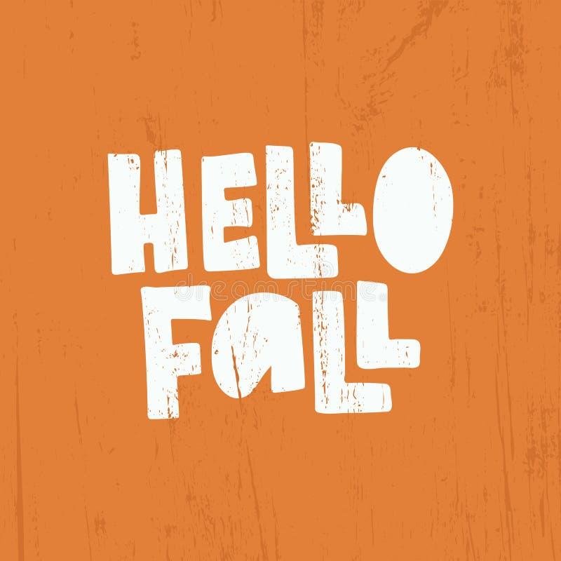 Hello-daling het van letters voorzien vector illustratie