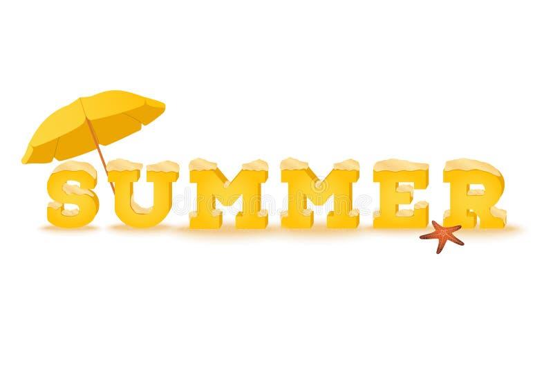 Hello-de lenteinschrijving in 3d stijl op witte achtergrond Typografieuitdrukking van de zomerdoopvont die wordt gemaakt vector illustratie
