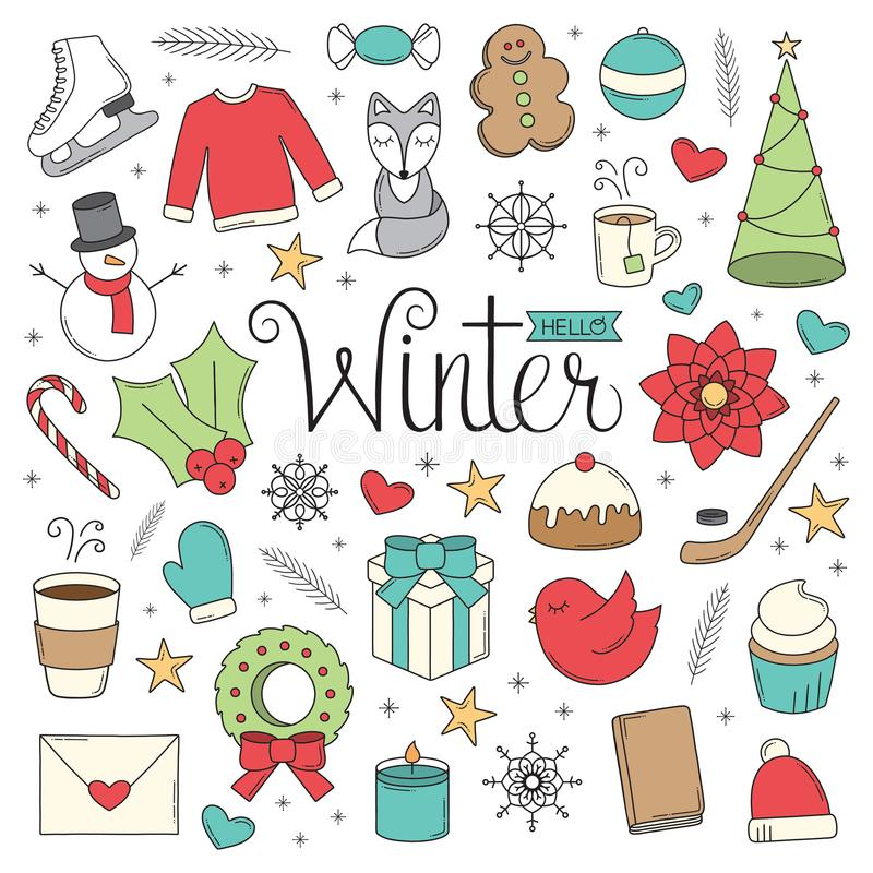 Hello-de winterkrabbels royalty-vrije stock foto