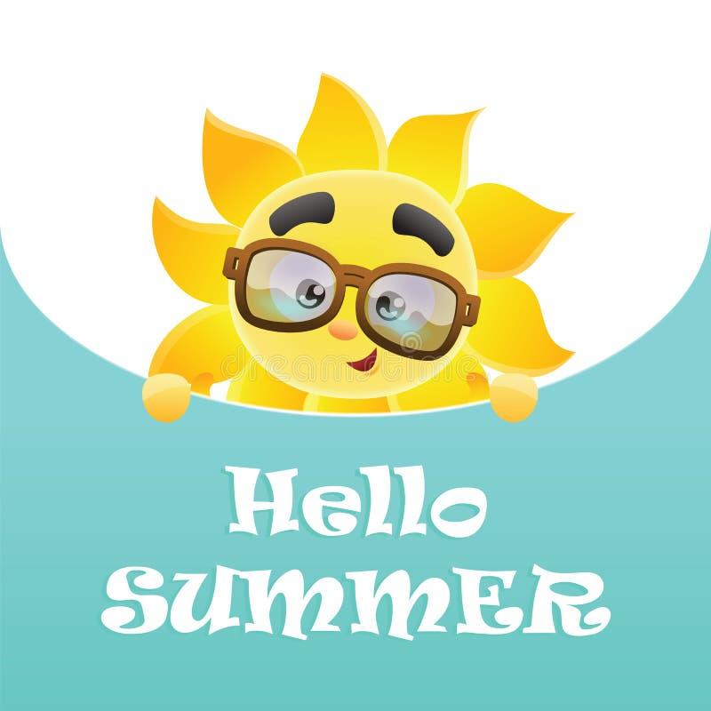 Hello-de zomer! stock foto