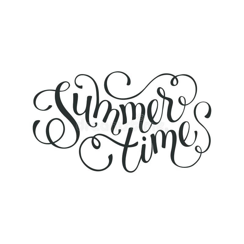 Hello-de zomer verwoording vector illustratie
