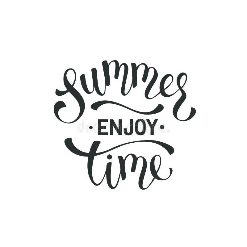 Hello-de zomer verwoording royalty-vrije illustratie