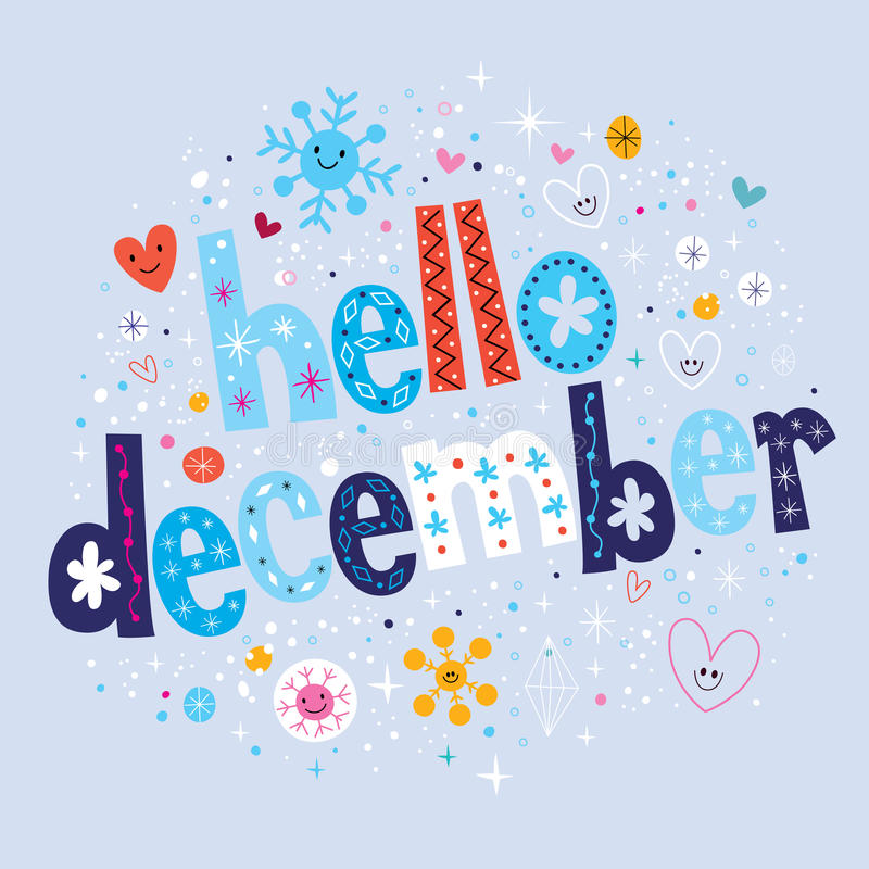 Download Hello december stock vector. Illustration of calendar - 46958527