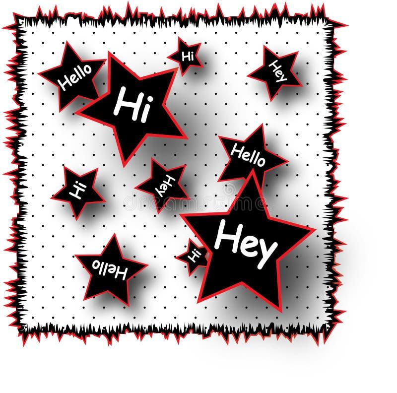 Hello hallo Illustratie Hey royalty-vrije illustratie