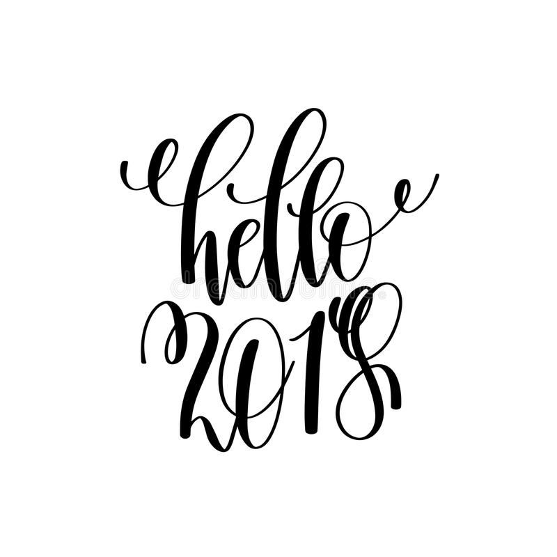 Hello hand lettering inscription to winter holiday