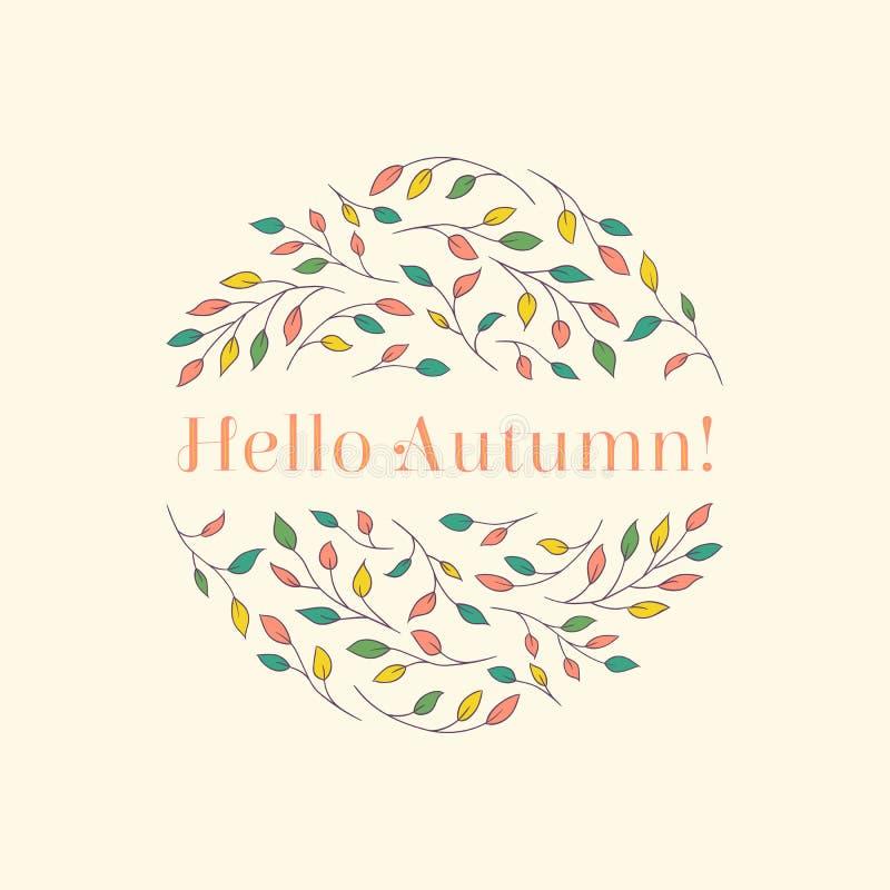 Hello herfst-1 vector illustratie