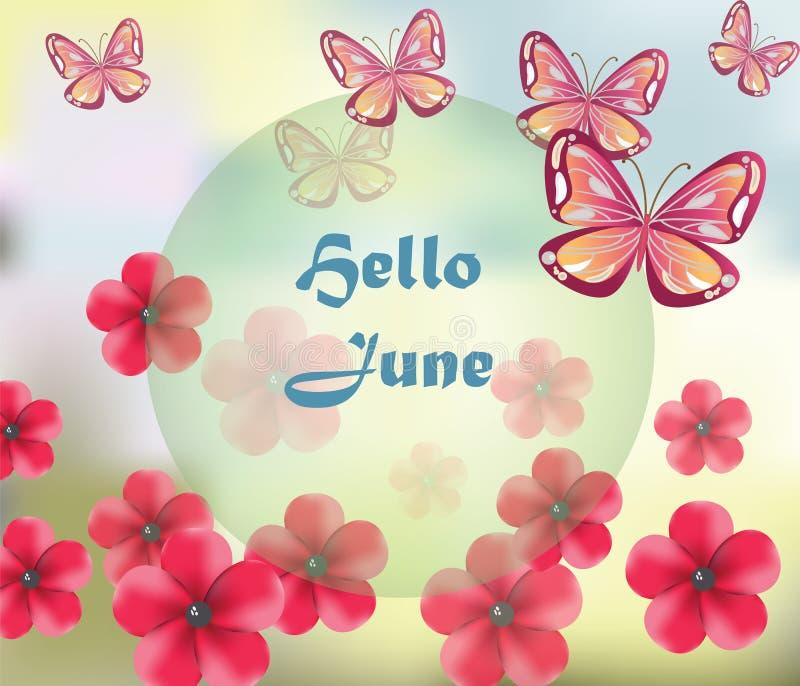 Hello June background stock vector. Illustration of enjoy ...