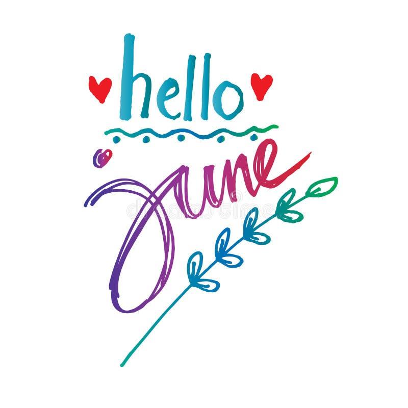 Download Hello June Stock Illustration Of Phrase