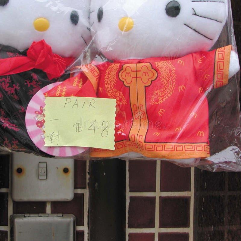 Hello Kitty dockor fotografering för bildbyråer