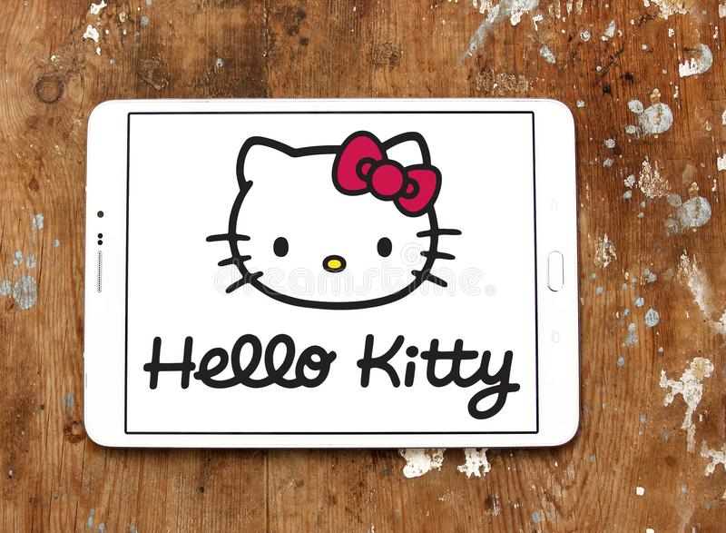 Hello Kitty logo obraz royalty free