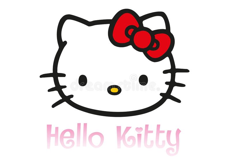 Hello Kitty logo royalty ilustracja