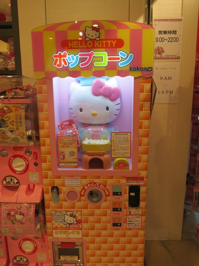 Hello Kitty Popcorn Machine royalty-vrije stock fotografie