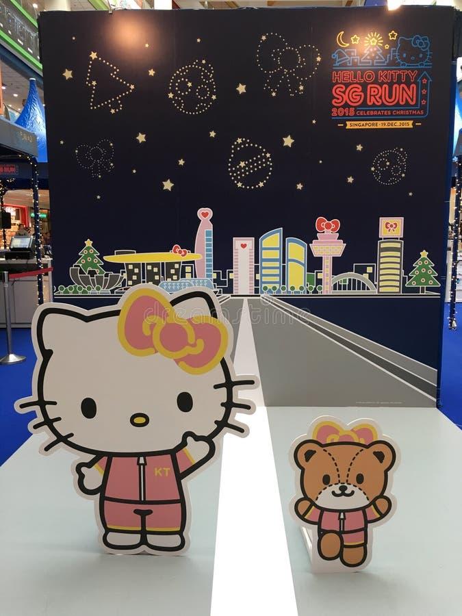 Hello Kitty SG bieg 2015 ilustracji