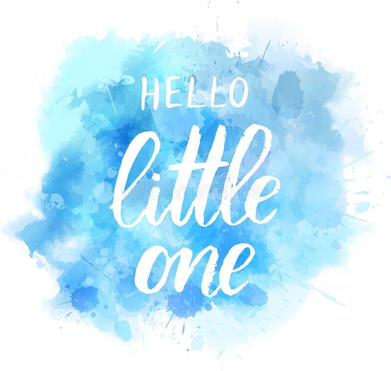 Free Hello Little One - Blue Watercolor Splash Royalty Free Stock Photos - 126629468