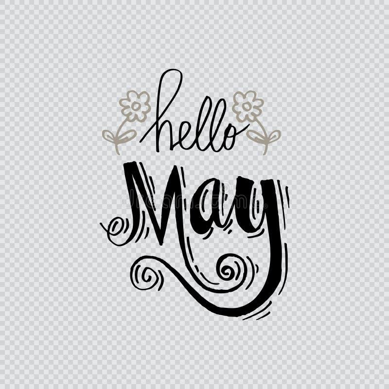 Hello May royaltyfri illustrationer