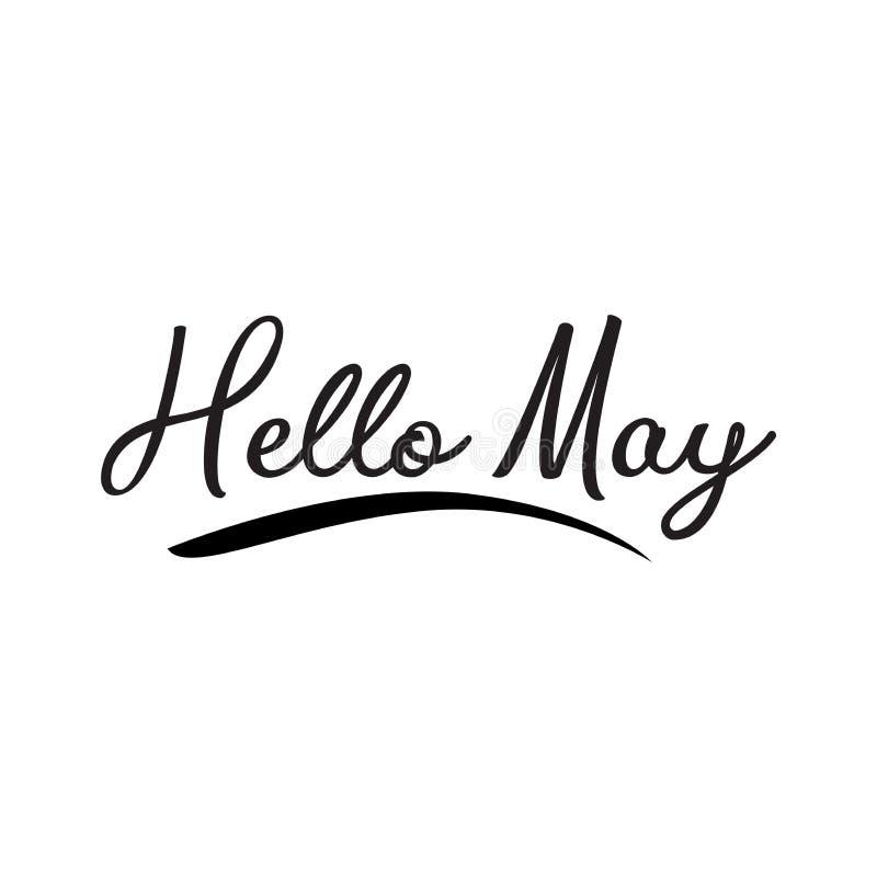 Hello May h?lsa vektorbokst?ver vektor illustrationer