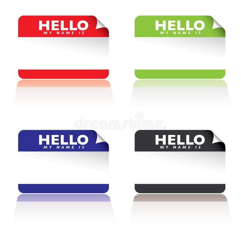 Hello is mijn naam stock illustratie