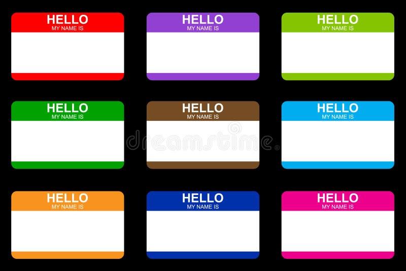 Hello is mijn naam vector illustratie