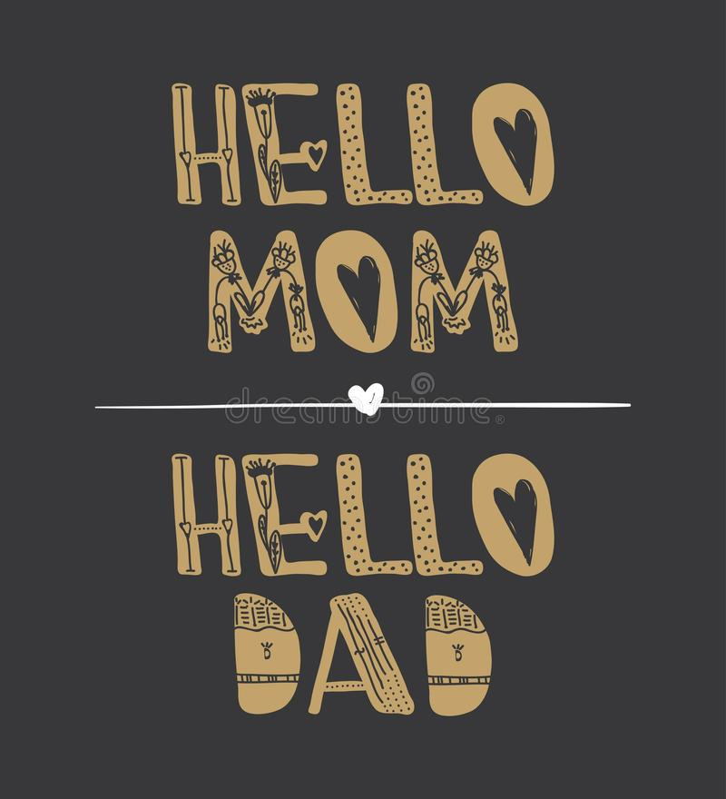 hello mom hello dad motivational quotes quote collection stock