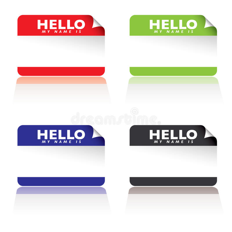 Download Hello my name is stock vector. Image of symbol, blue - 14218717