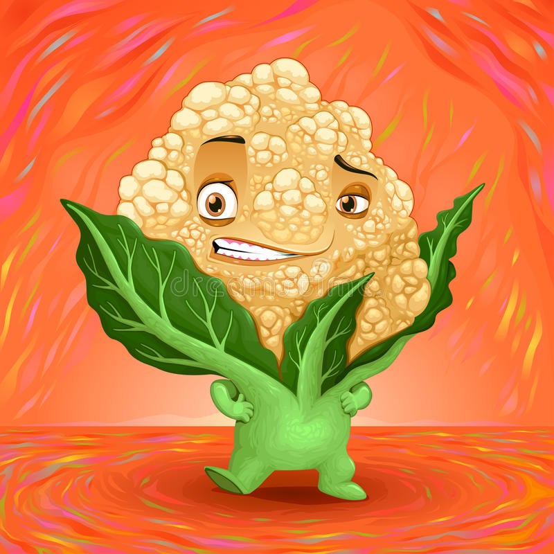 Hello my name is cauliflower royalty free stock image
