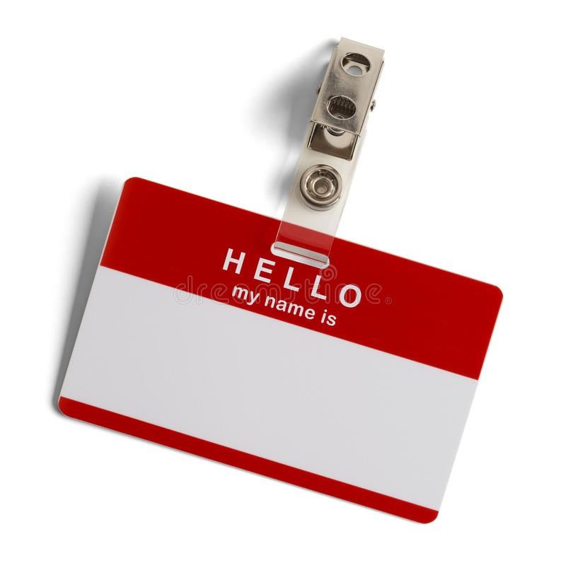 Hello My Name Is Tag royalty free stock photos